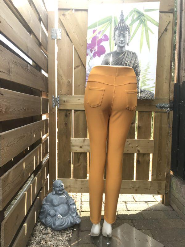 corrigerende strech pantalon honinggeel Mt S/M tm 5XL