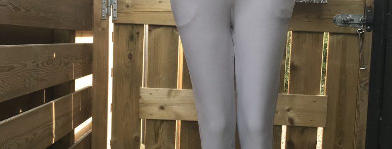 corrigerende strech pantalon licht grijs Mt S/M tm 5XL