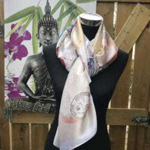 elegante stijlvolle langwerpige shawls beige rose