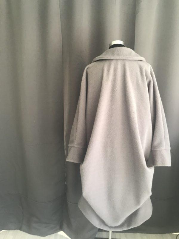 voor- en najaarsjas krijt grijs oversized