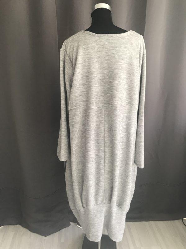 casual lange jurk krijt grijs one size
