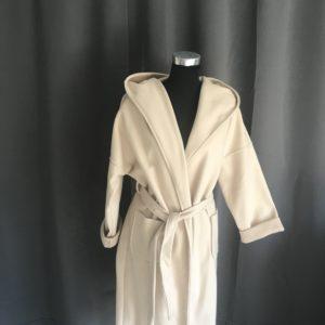 stijlvolle beige jas one size