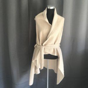 apart jasje zonder mouwen gemeleerd beige one size