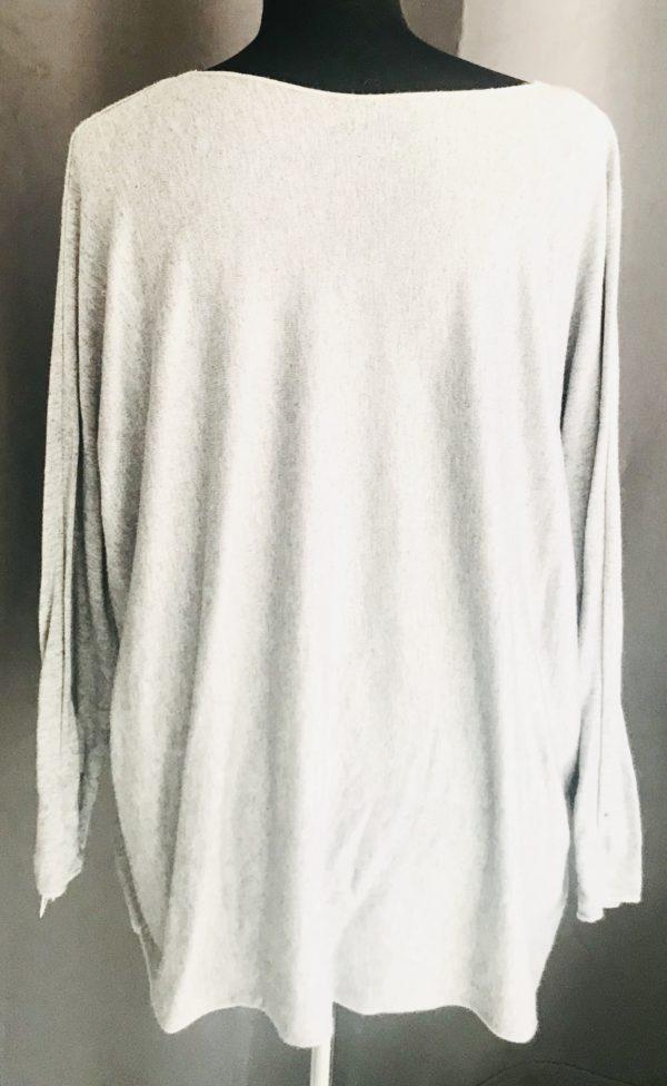 leuke trui met glitter tekst krijt grijs