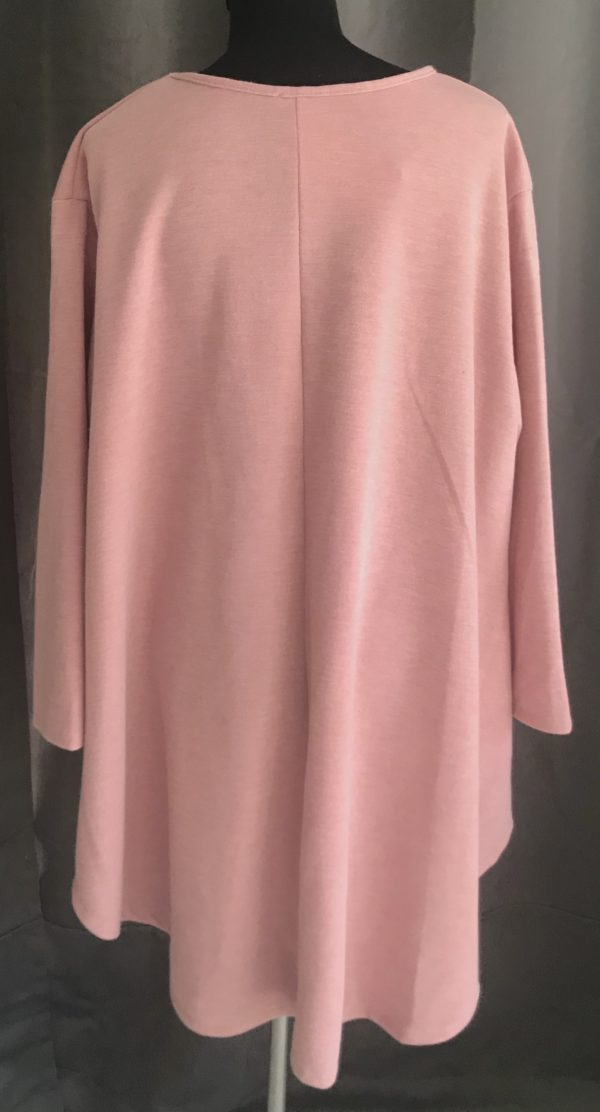 casual tuniek oud rose one size