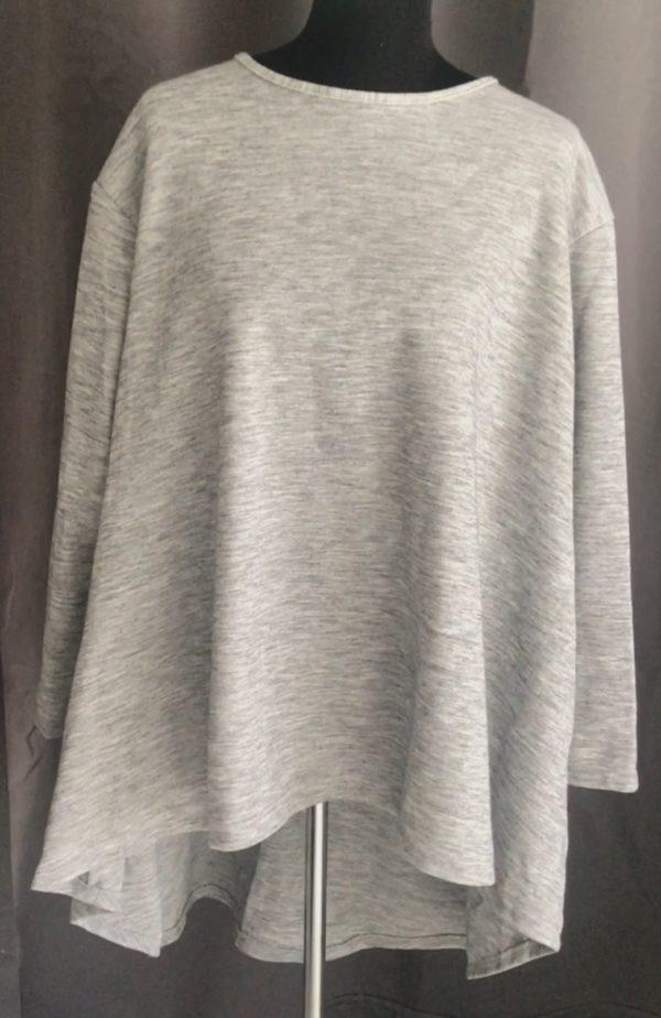 casual tuniek krijt grijs one size