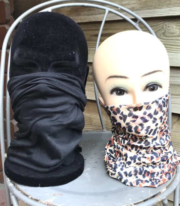 Multiscarf div prints ook geschikt voor monddoek zwart