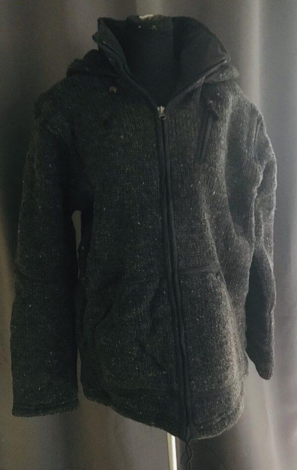3112000 heerlijk gebreid outdoor uni vest antraciet