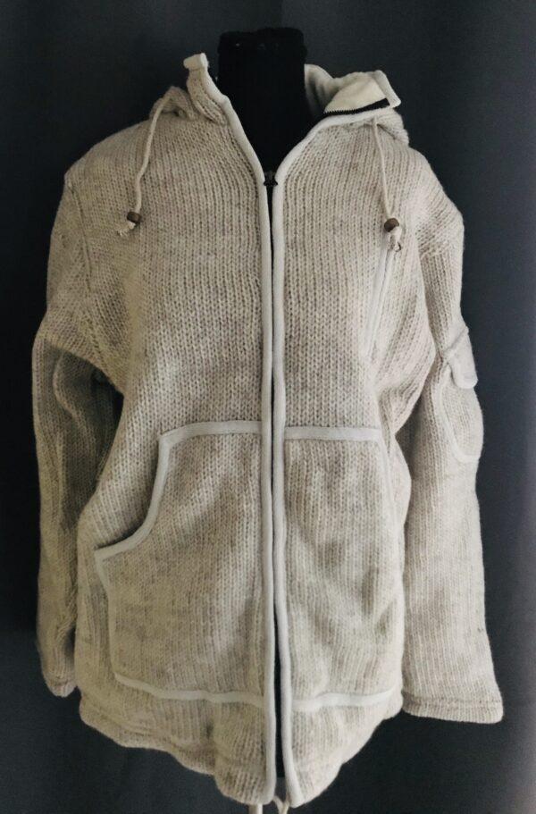 3112001 heerlijk gebreid outdoor uni vest beige